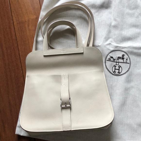 d1552627d79c New Hermès Halzan Swift mini bag color Craie